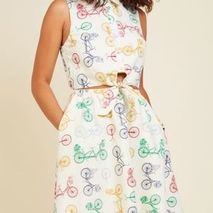 Modcloth Where My Picnic People? Dress in Bicycles